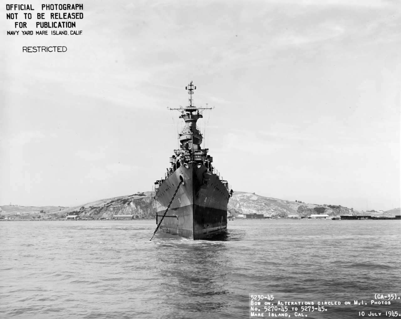 Photo #: 19-N-86913  USS Indianapolis (CA-35)