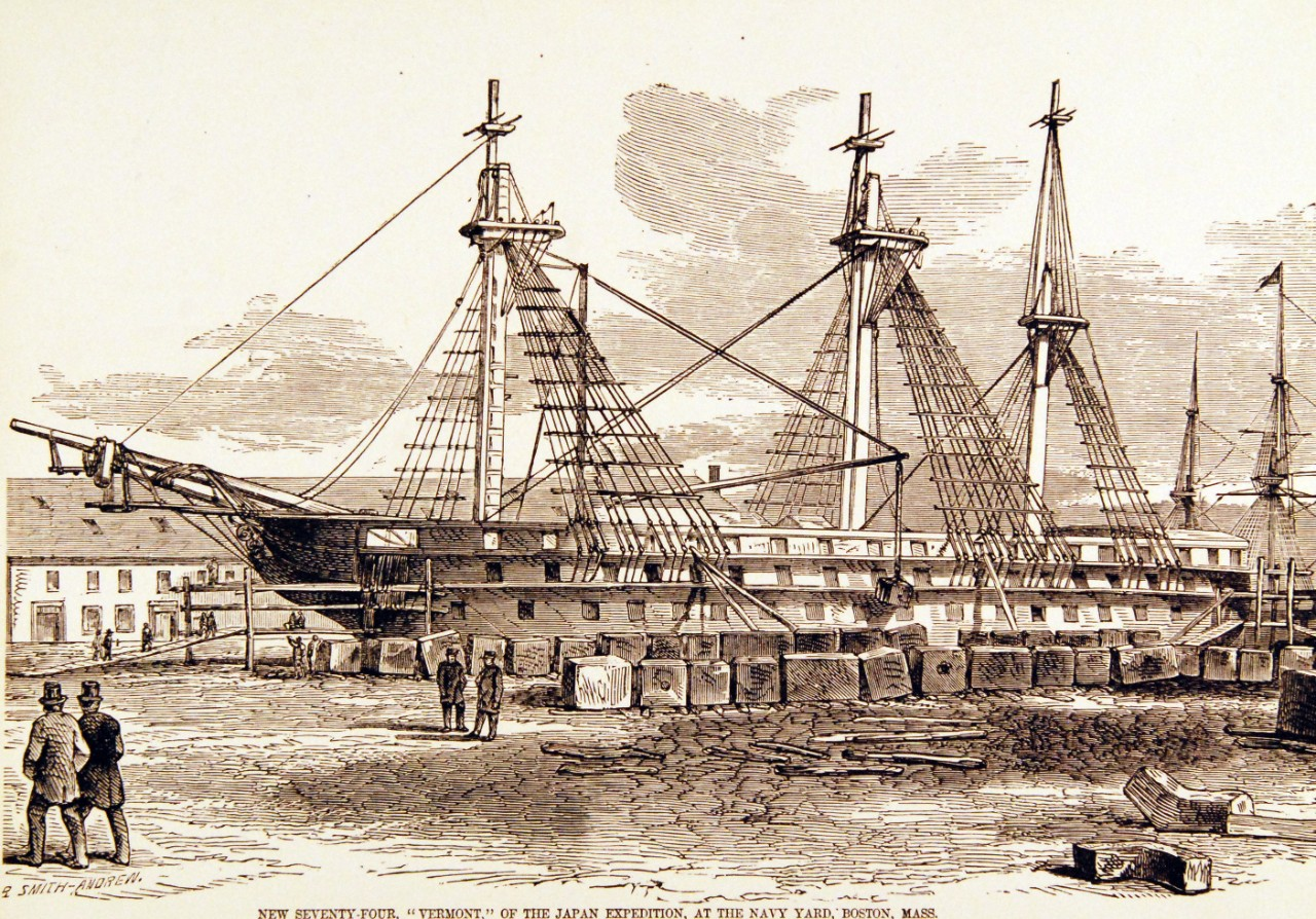 USS Vermont, Ship of the Line, 1850s