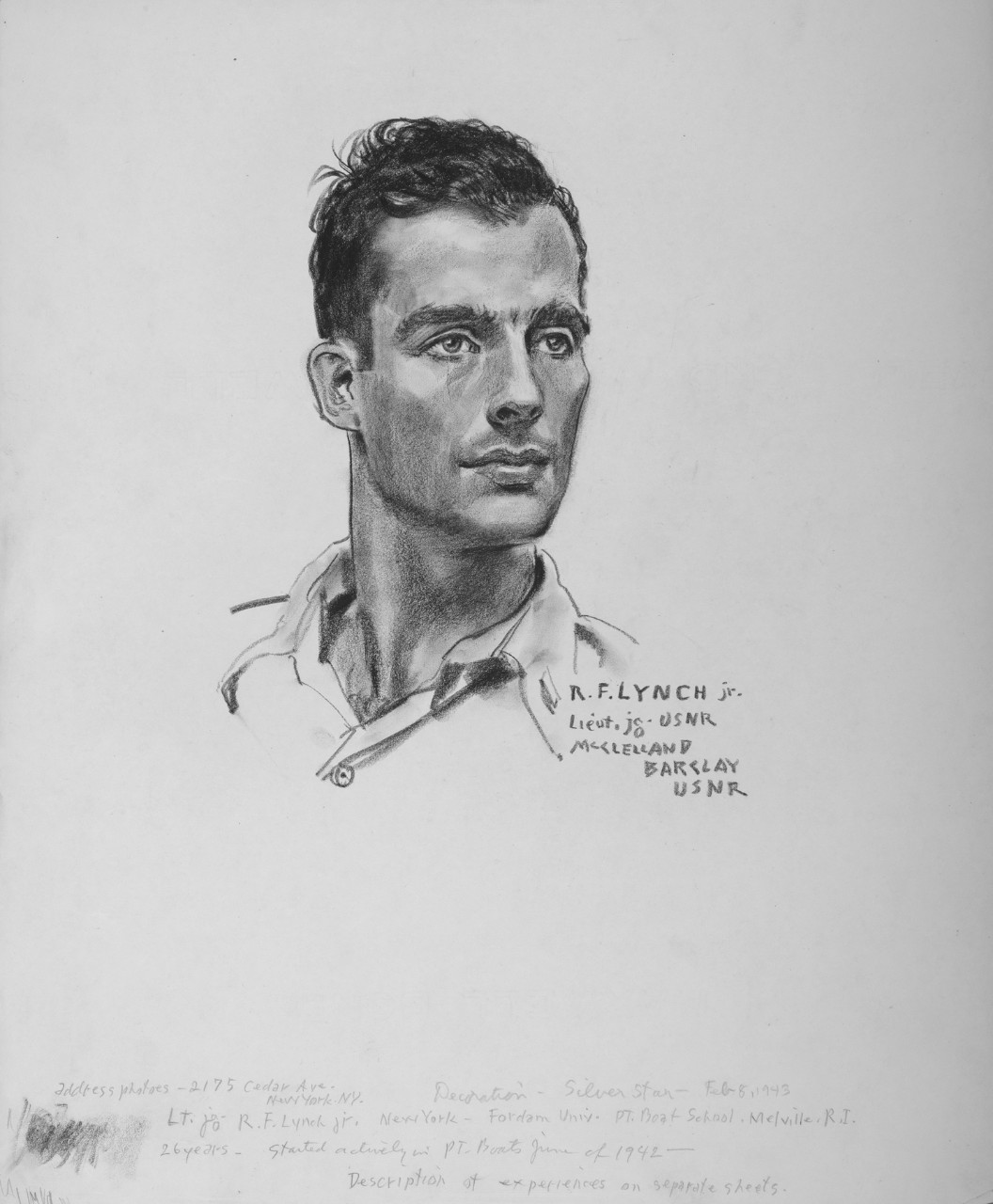 Portrait of LT(jg) R.F. Lynch, Jr.