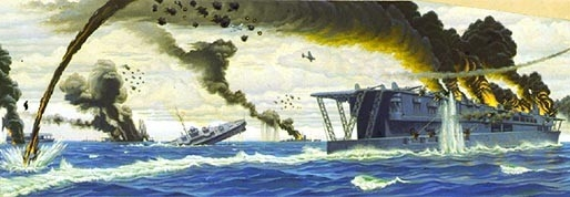 Dive Bombing Japanese Carriers