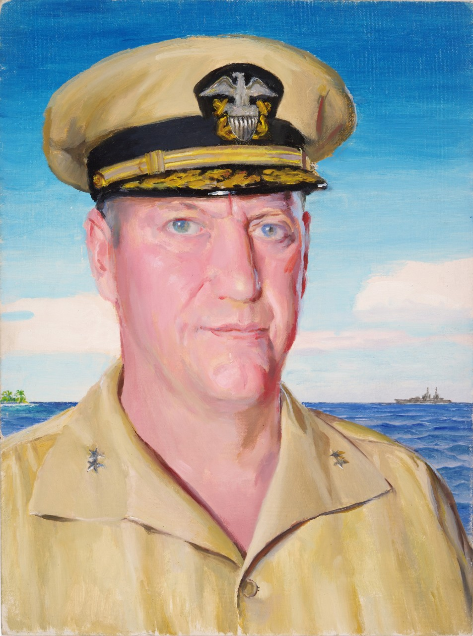 Portrait of a two star admiral