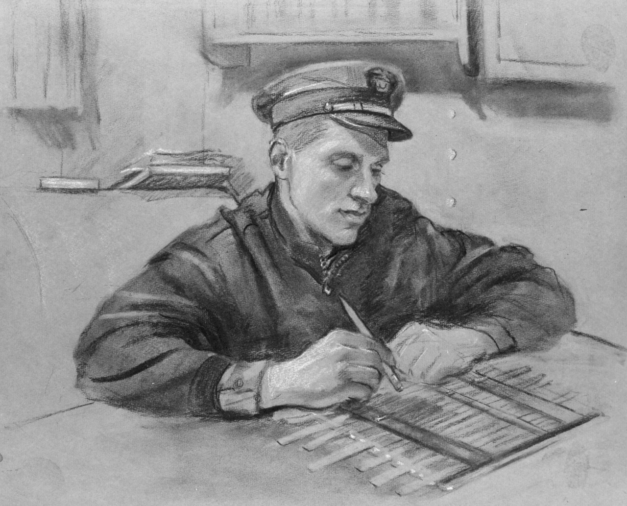 Portrait of a navy officer