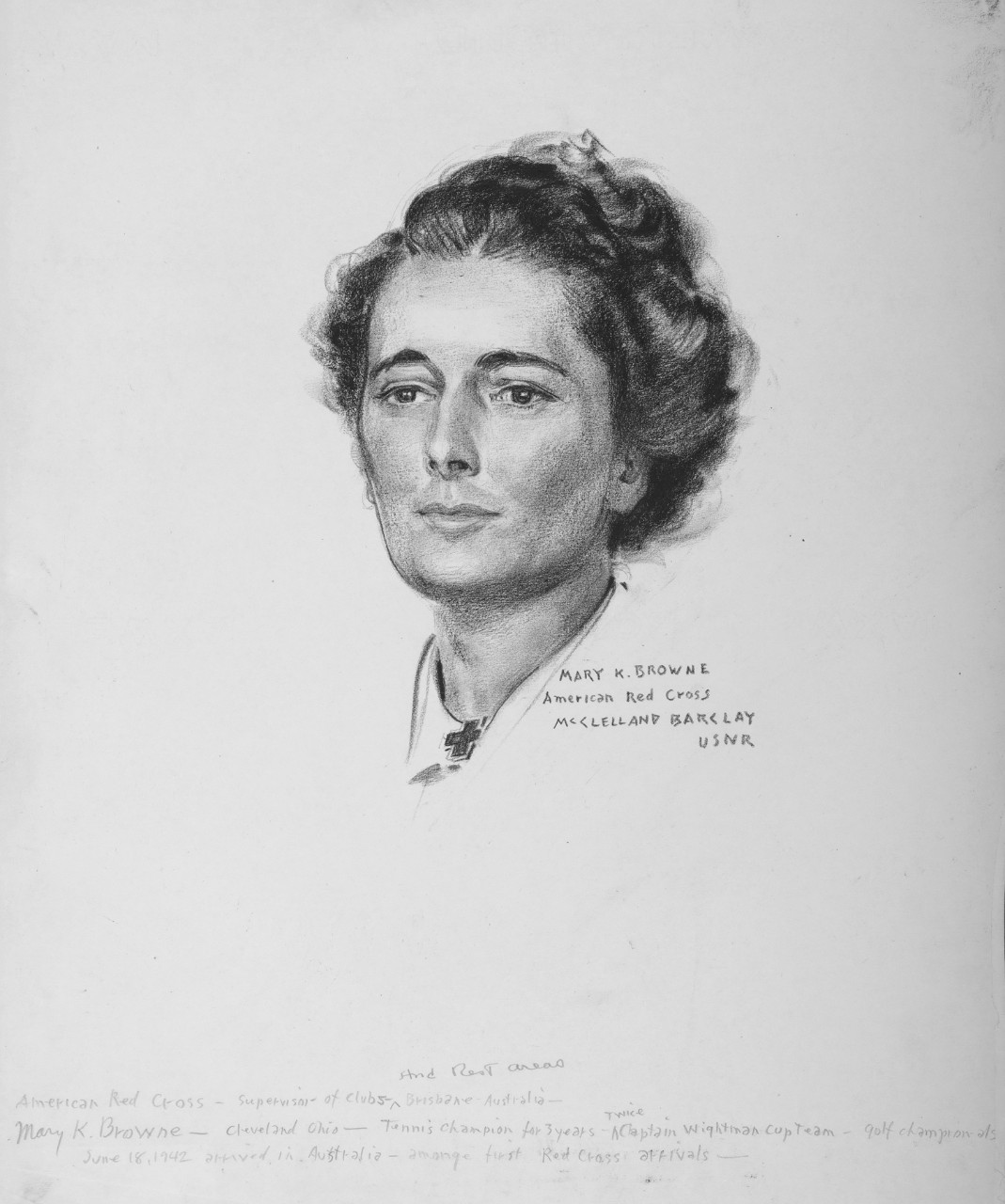 Portrait of Mary K. Browne, American Red Cross