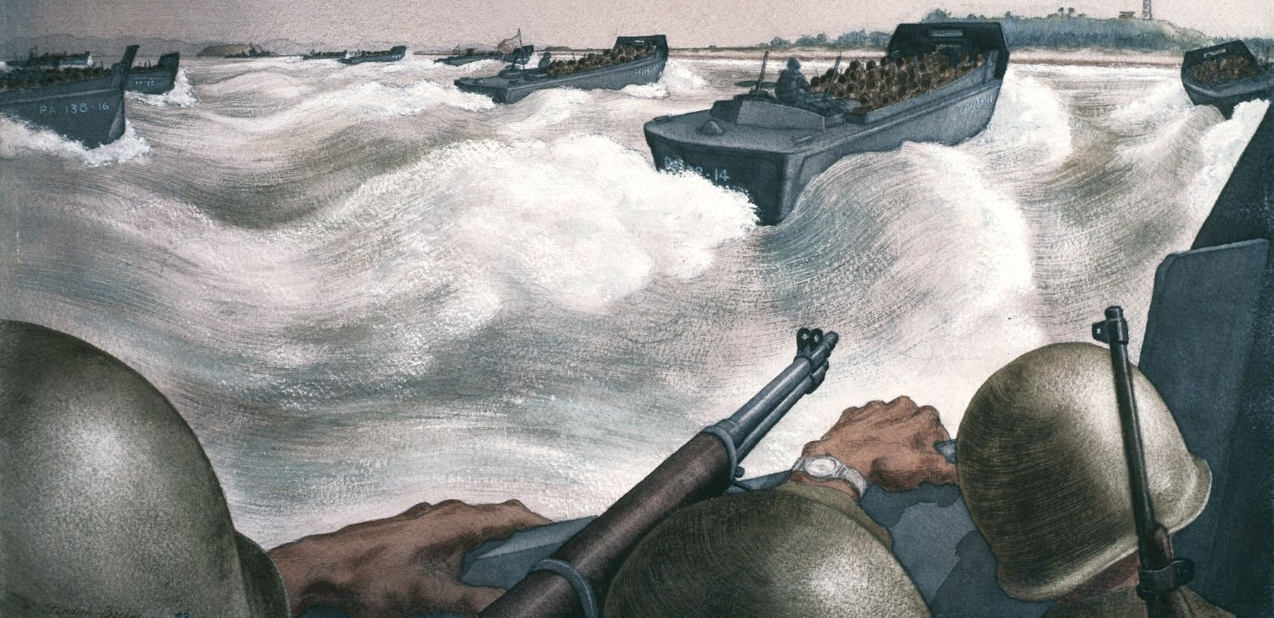 Naval Art from the Japanese Surrender at Tokyo Bay