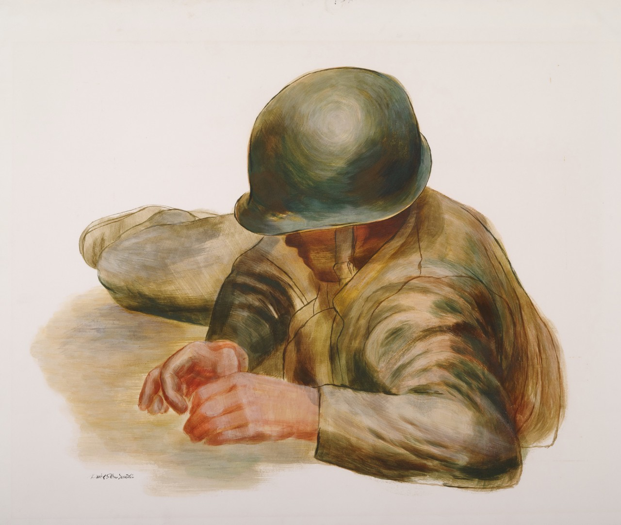 Corpsman lying on the ground