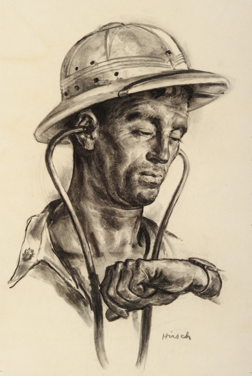 Portrait of a Navy doctor in a pith helmet