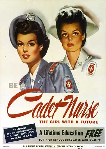 Poster with two Navy nurses