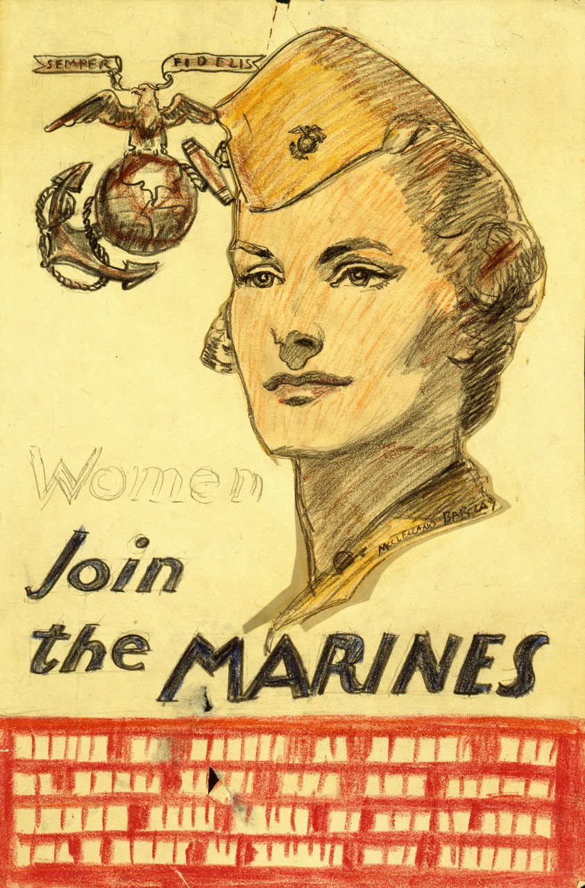 Portrait of a woman marine
