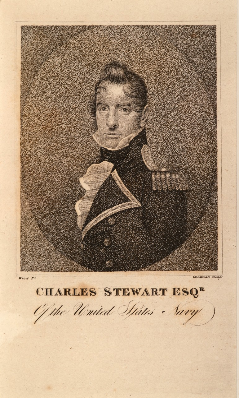 A portrait of a early 19th century American naval officer
