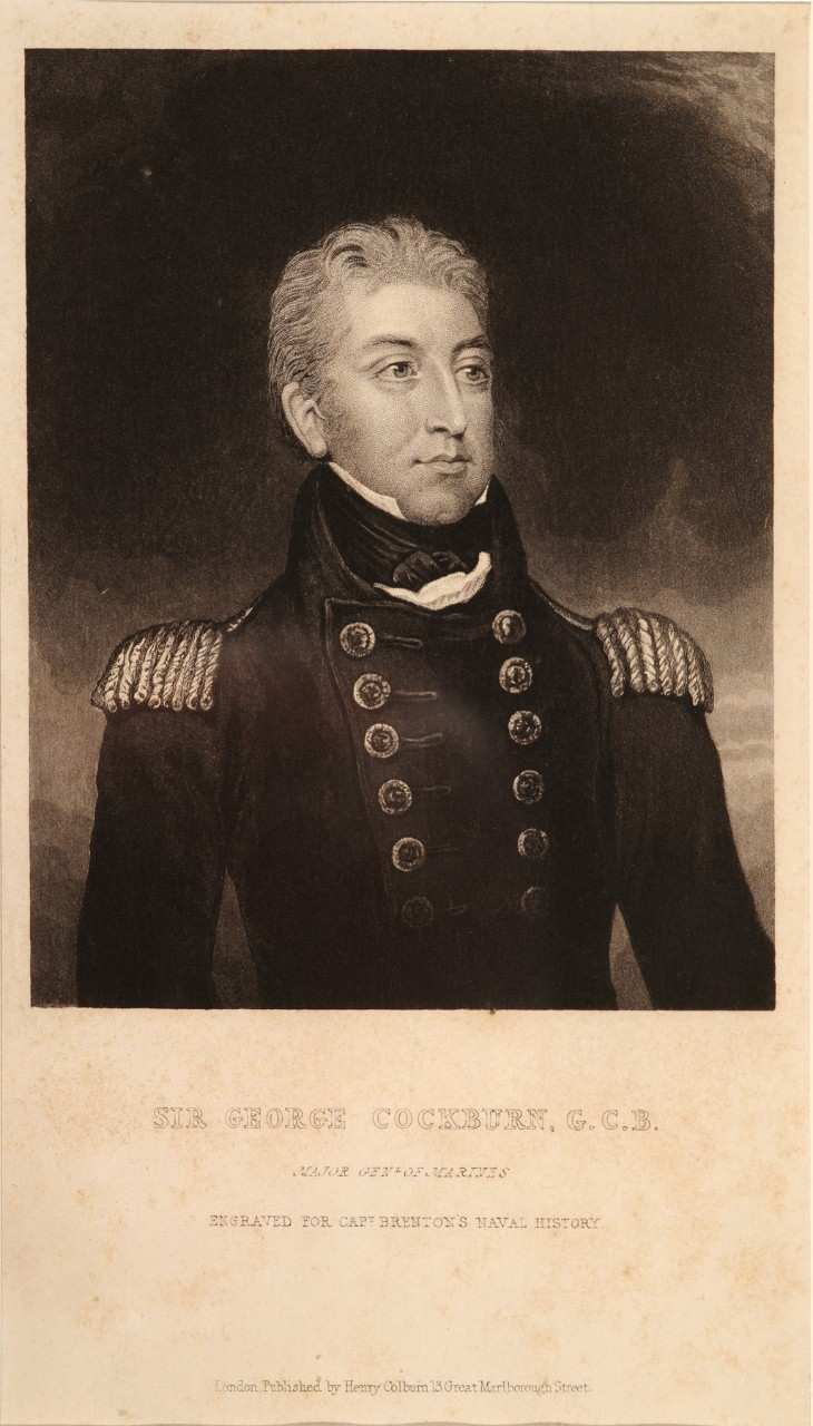 A portrait of an early 19th century British naval officer