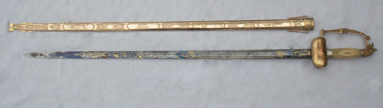 Sword presented to Lt. Thomas Holdup Stevens for action in Battle of Lake Erie
