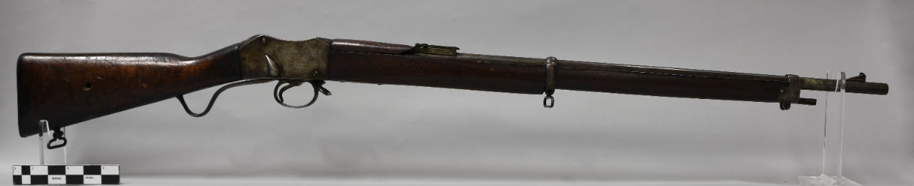 <p>Obverse view of Martini-Enfield rifle. &nbsp;</p>