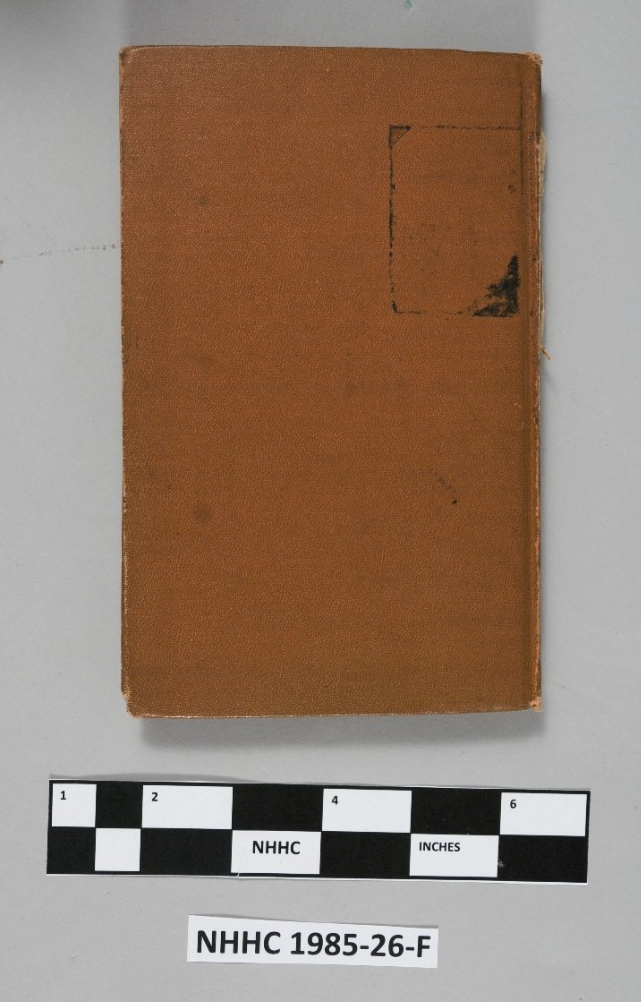 <p>Aviation flight log of James D. Woodson. Back cover of the log, covered with brown leather.</p>