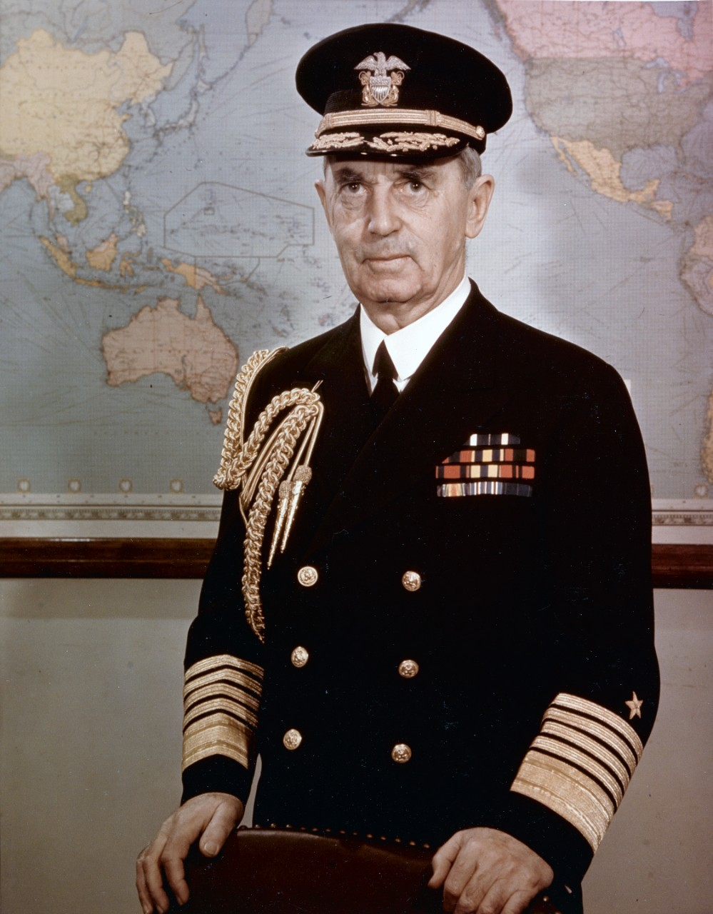 Photo #: 80-G-K-14447 Fleet Admiral William D. Leahy, USN, Chief of Staff to the President and Senior Member of the Joint Chiefs of Staff