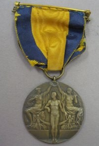 Image related to 1912 Olympics Bronze Medal Reverse - Carl Osburn