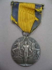 Image related to 1912 Olympics Silver Medal #1 Reverse - Carl Osburn