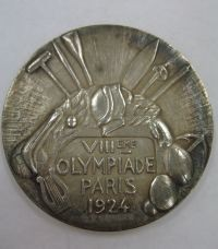 Image related to 1924 Olympics Silver Medal Reverse - Carl Osburn
