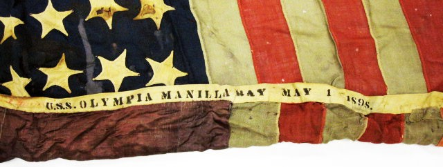 National Flag from the USS Olympia Flown at Manila Bay May 1 1898