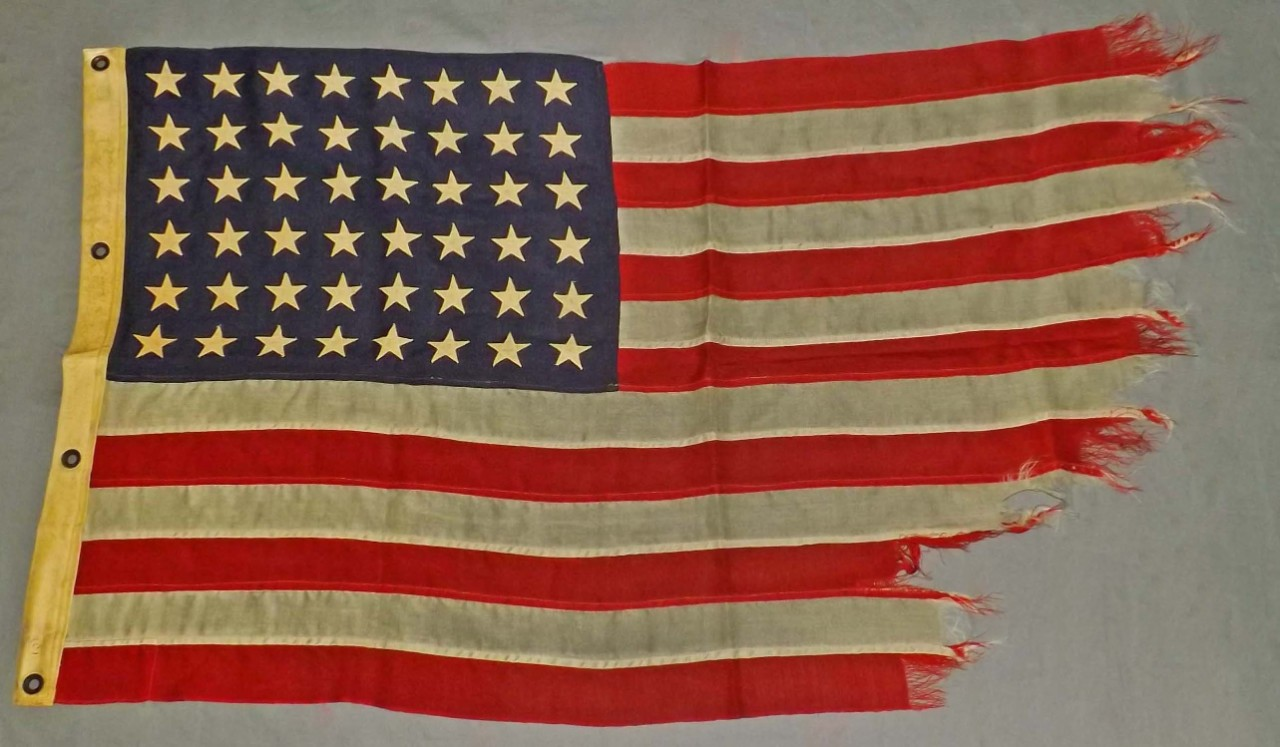 National Ensign flown on the USS John D. Ford (DD-228) during WWII.
