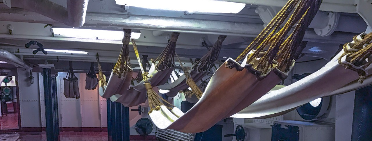 Betrthing cots on USS Olympia