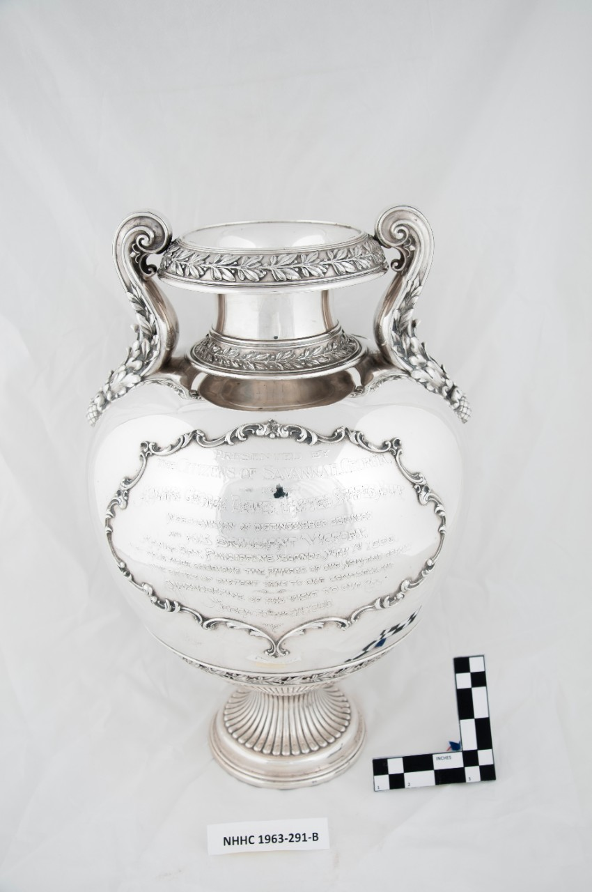 Reverse Full view of Silver Loving Cup of Commodore George Dewey