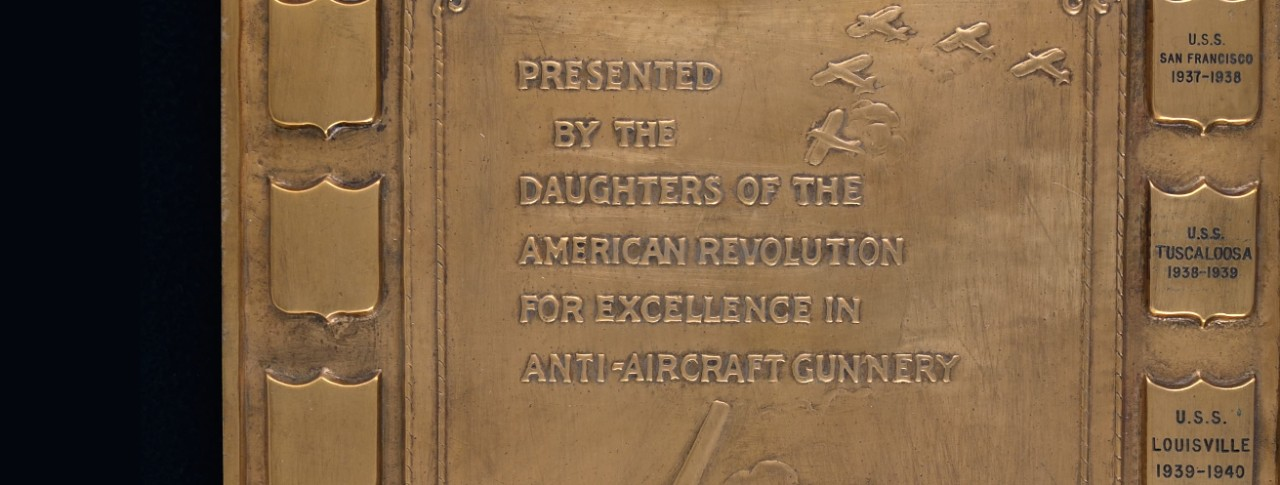 DAR Plaque for excellence in Anti Aircraft Gunnery