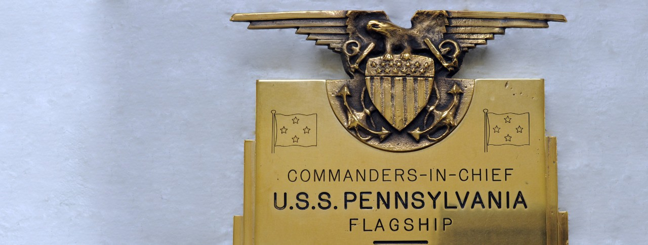 CO Plaques Banner USS Pennsylvania