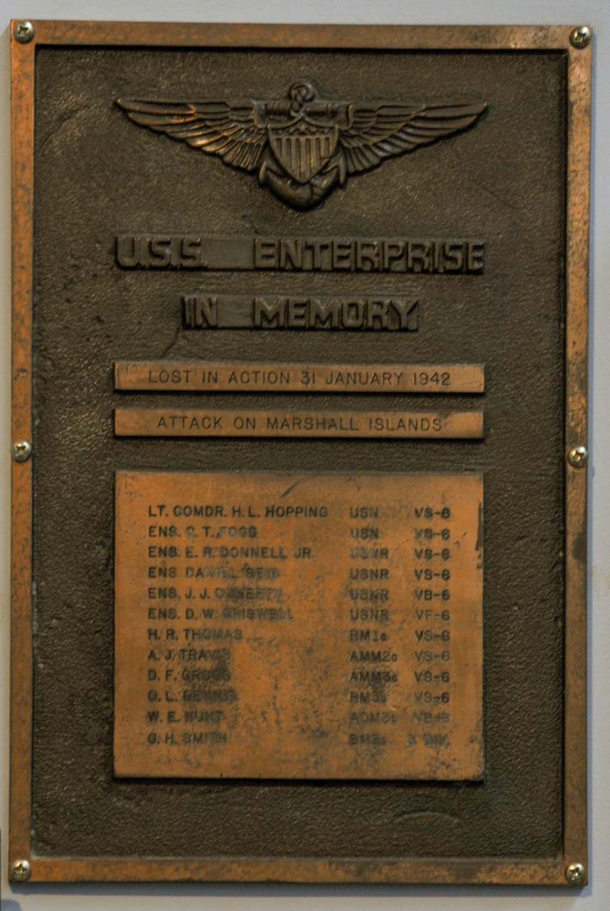Bronze plaque marking those lost during the repelling of Japanese during World War II