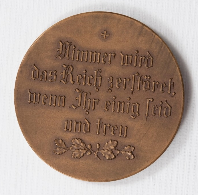 <p>Reverse image of German Propaganda Medal from Treaty of Versailles</p>