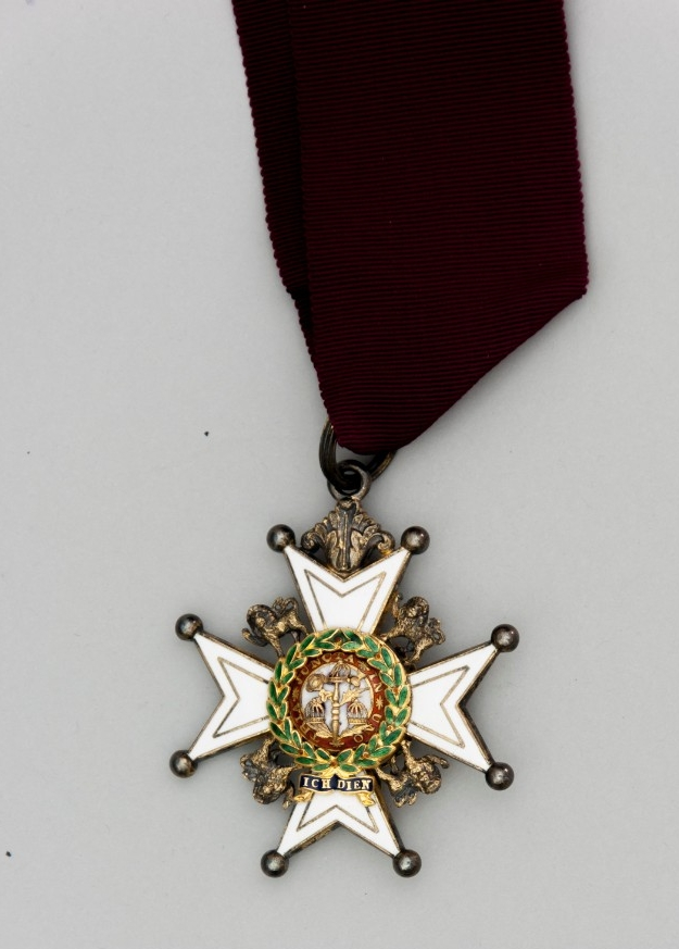 Maltese cross award from Australia Order of the Bath