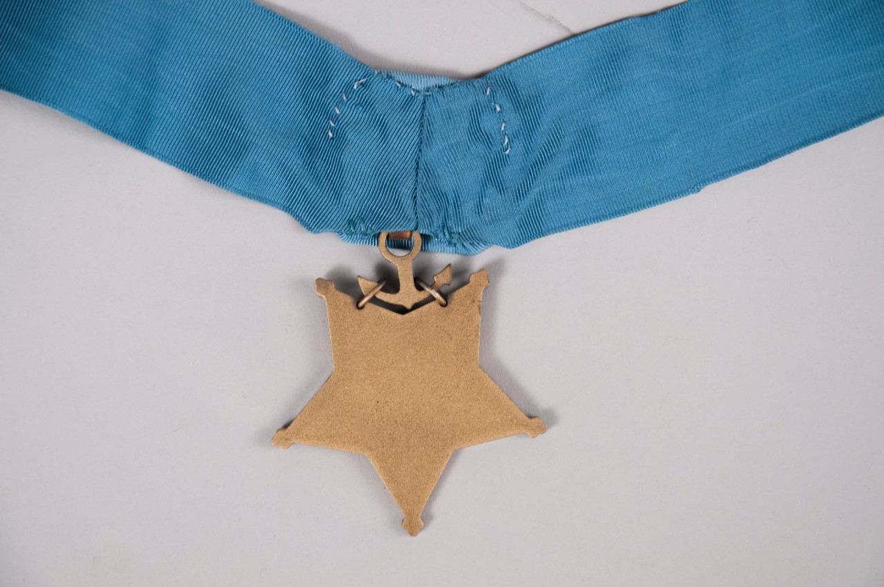 Reverse view of Medal of Honor Display Copy if James Stockdale
