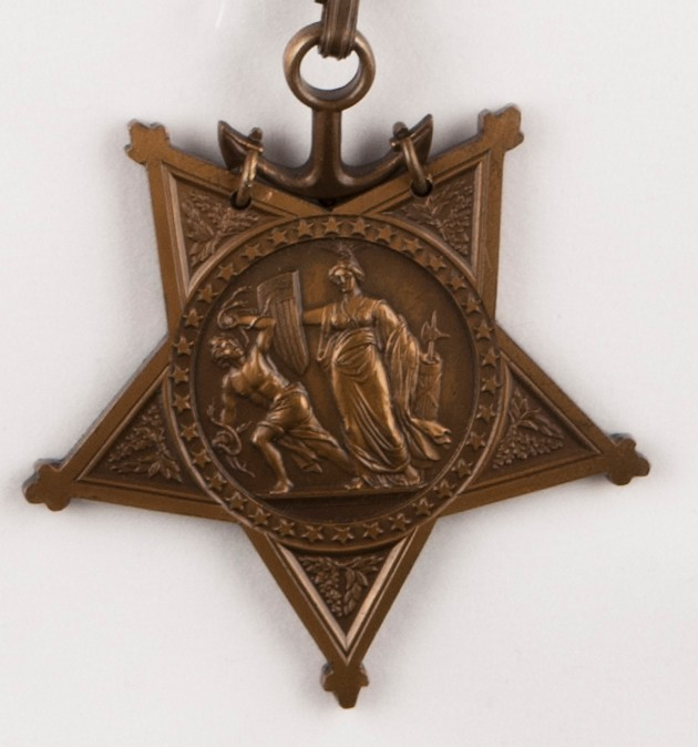 Obverse view of Medal of Honor