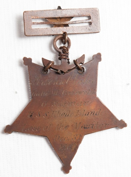 <p>Reverse View Medal of Honor Luke Griswold</p>