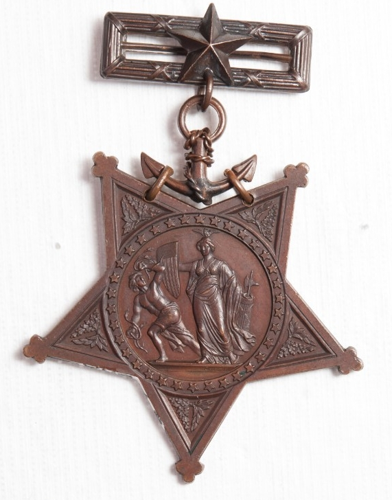 <p>Obverse view of Medal of Honor of William Jones</p>