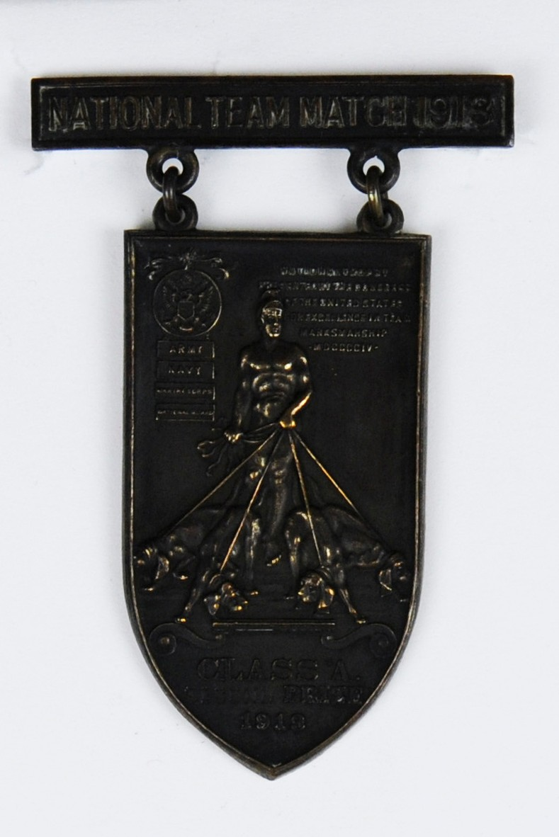 National Team Match Medal of Carl T Osburn from 1913