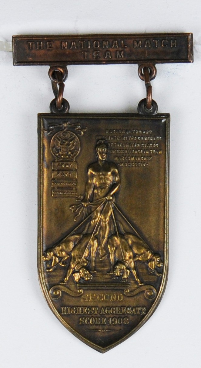 National Team Match Medal of Carl T Osburn from 1908 Obverse