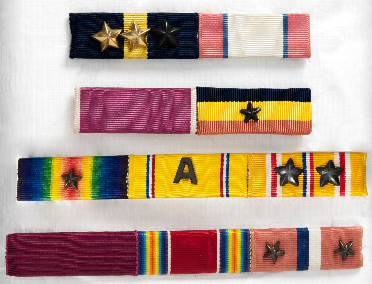 Ribbons of WWII Era Belonging to Admiral Kinkaid