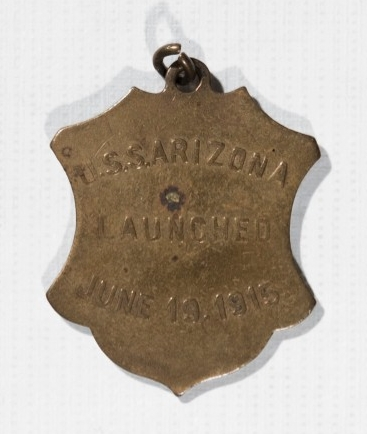 <p>USS Arizona (BB-39) Pendant reverse</p>