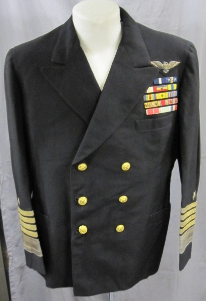 <p>Dress Blue Jacket with Admiral Rank and Ribbons sewn on.</p>