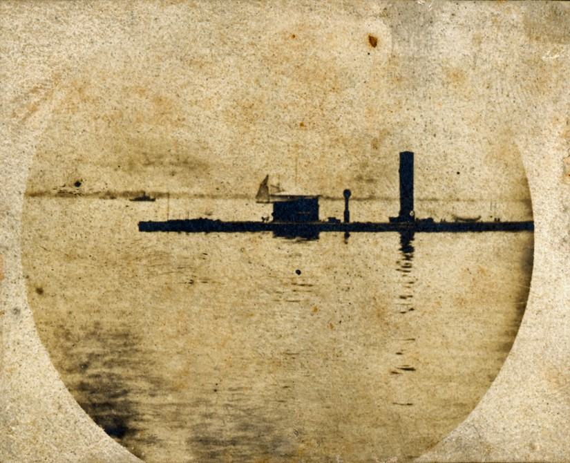 <p>Single 19th century photograph of an unknown Canonicas class Civil War Monitor.</p>