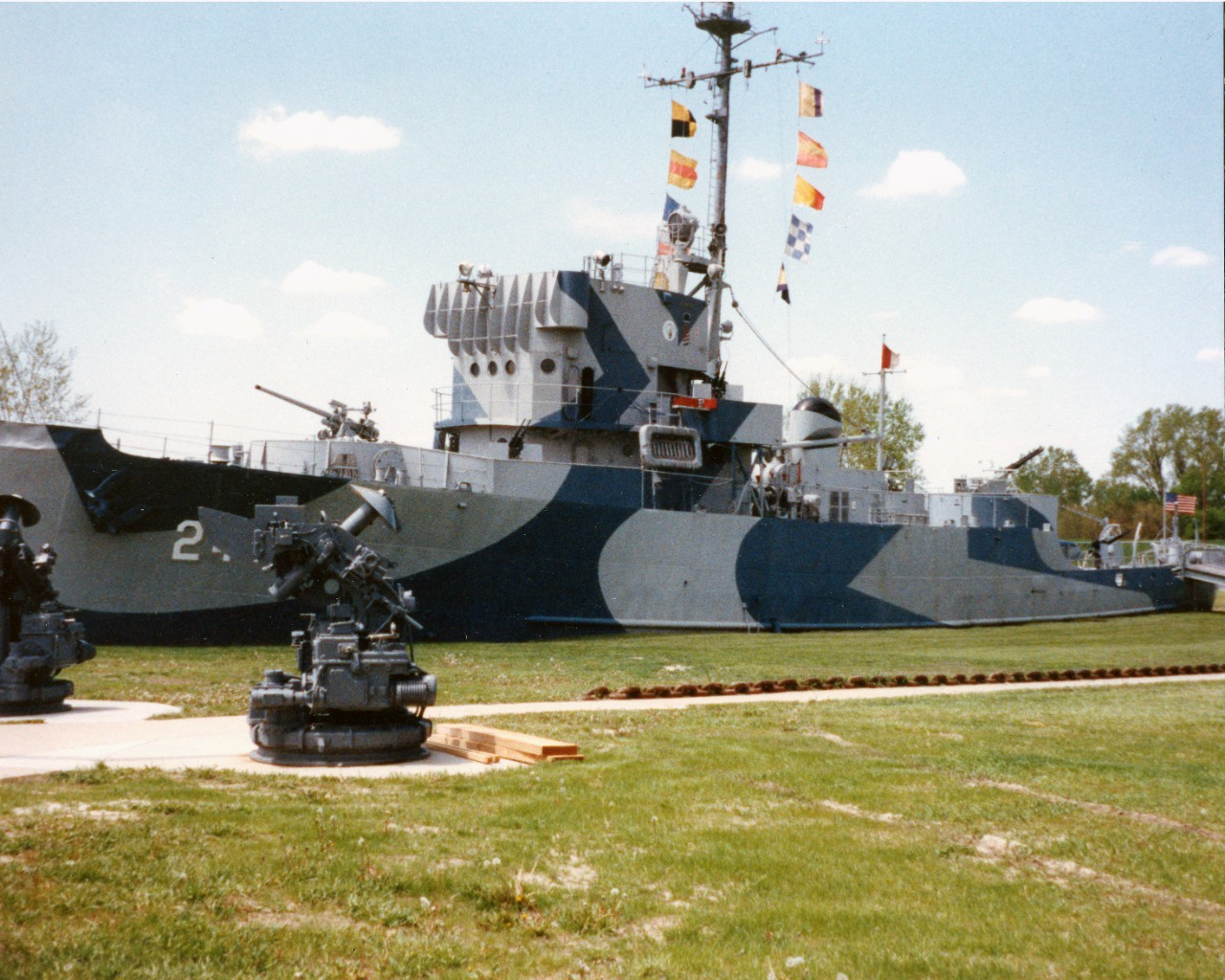 Collection photo # S-556-A.01 - USS Hazard (AM-240) on exhibit at Freedom Park, Omaha, NE
