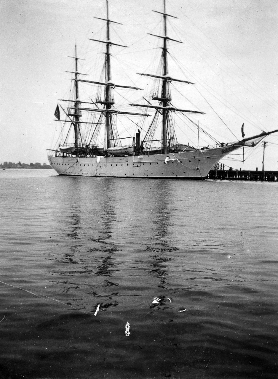 Midshipmen training ship USS Chesapeake, circa 1905. Image is from the Clarence Grace Collection.