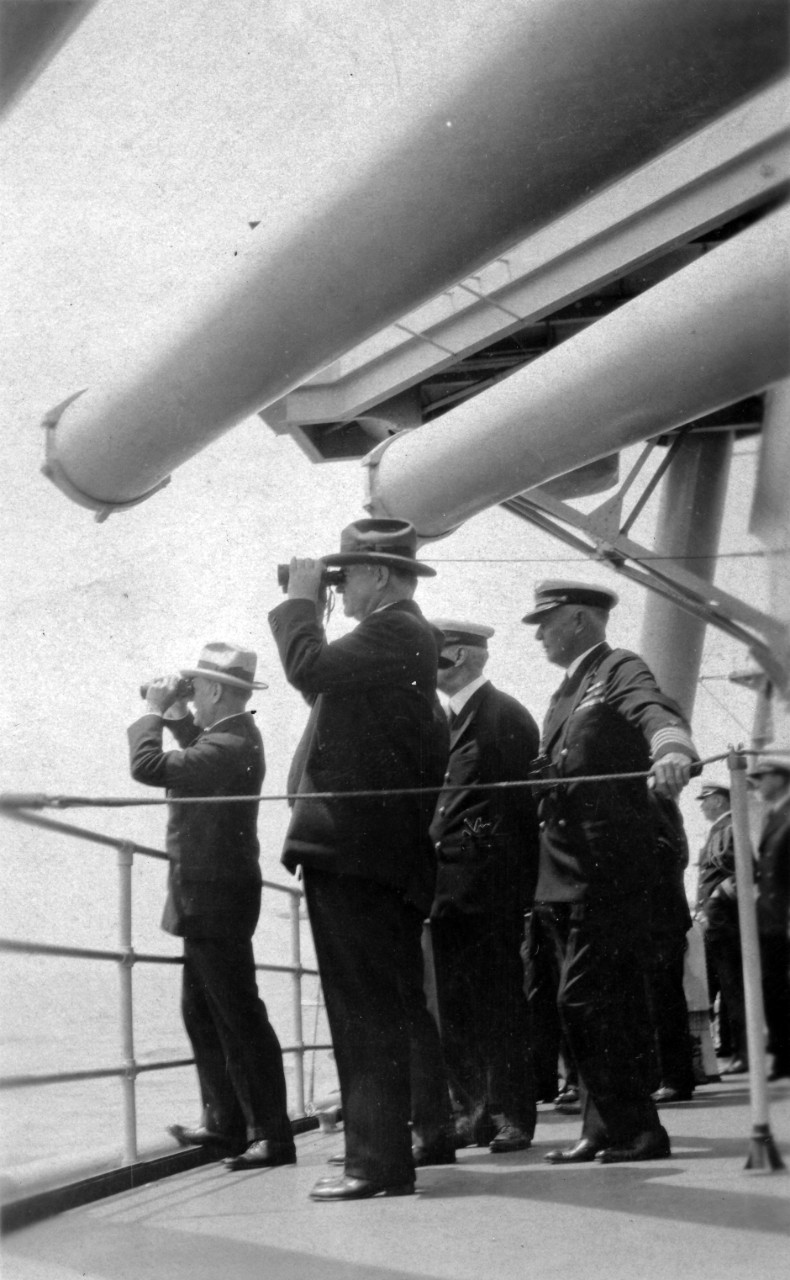 6 views of President Herbert C. Hoover's Review of the U.S. Atlantic Fleet, on 20 May 1930, on board USS Salt Lake City (CA-25). Donated to the Naval Historical Foundation in October of 1964 by Smith Hempstone-Oliver.