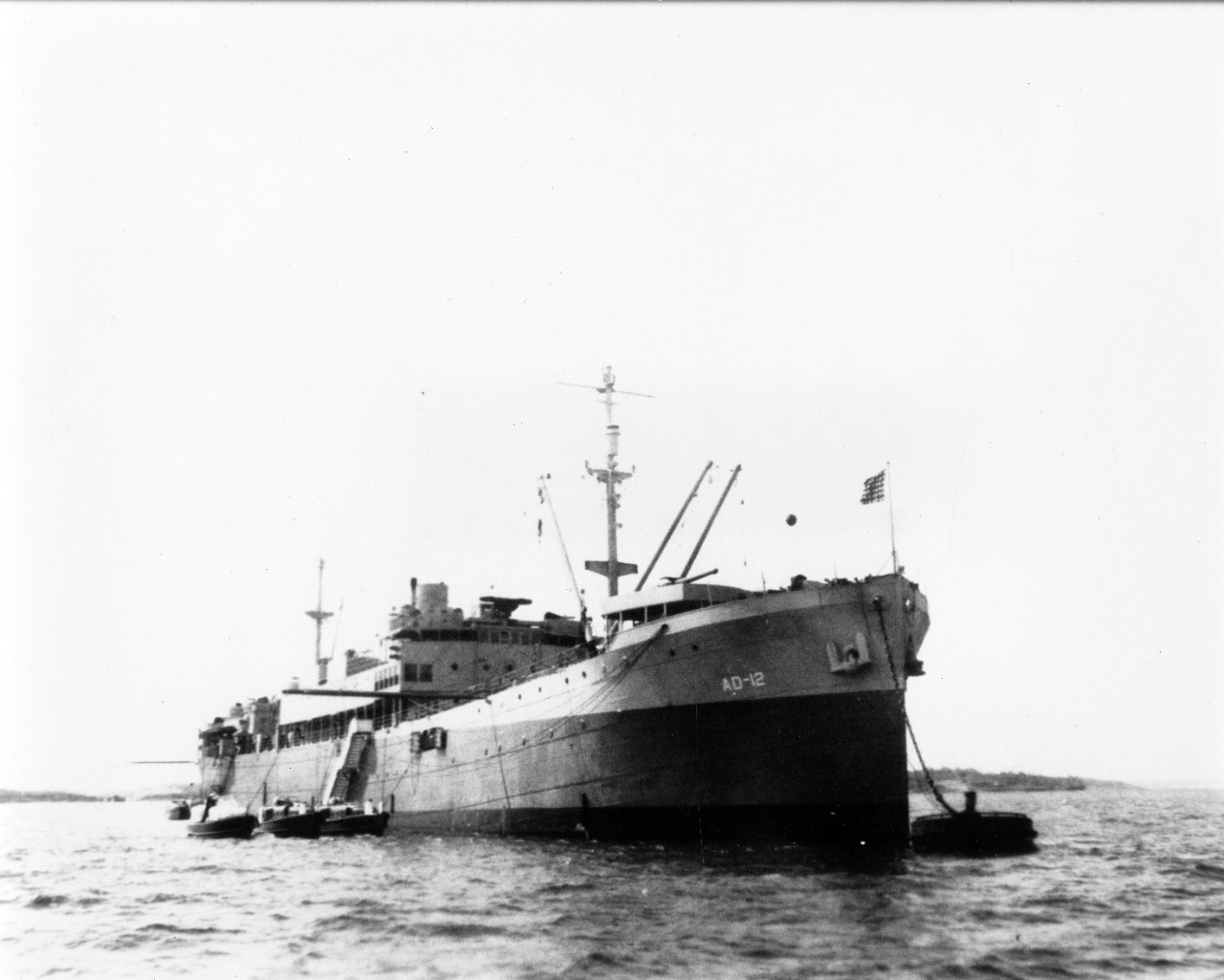 Single image donation of a b/w photo (copy) of USS Denebola (AD-12), circa WWII.