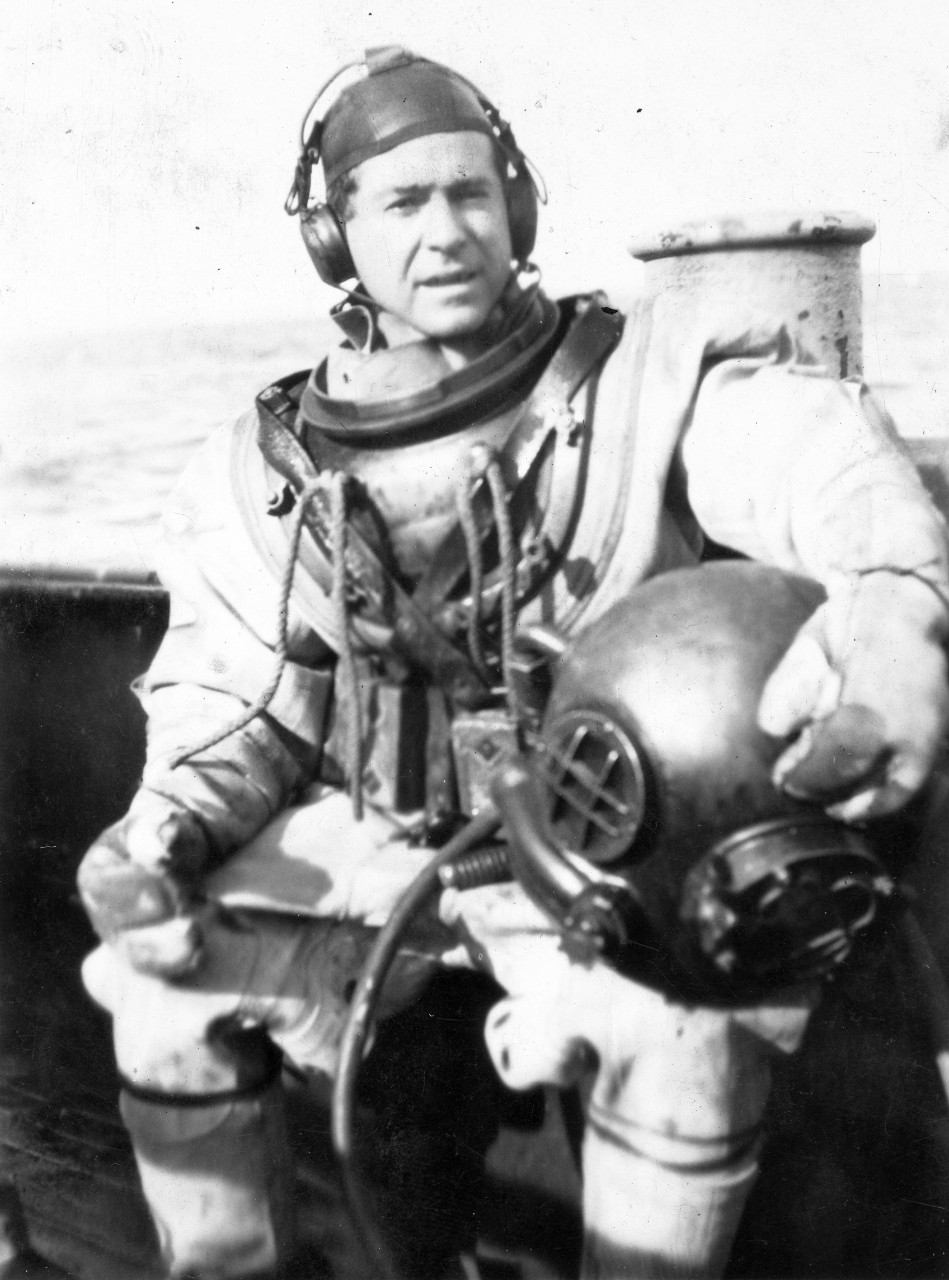 Salvage diver Frank W. Crilley, who worked on the S-4 in 1928. He was awarded the Navy Cross for his actions during the operation.