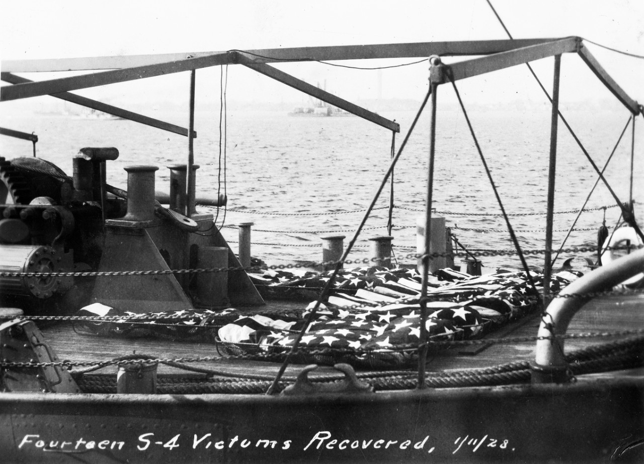 Fourteen S-4 victims recovered, January 11, 1928.