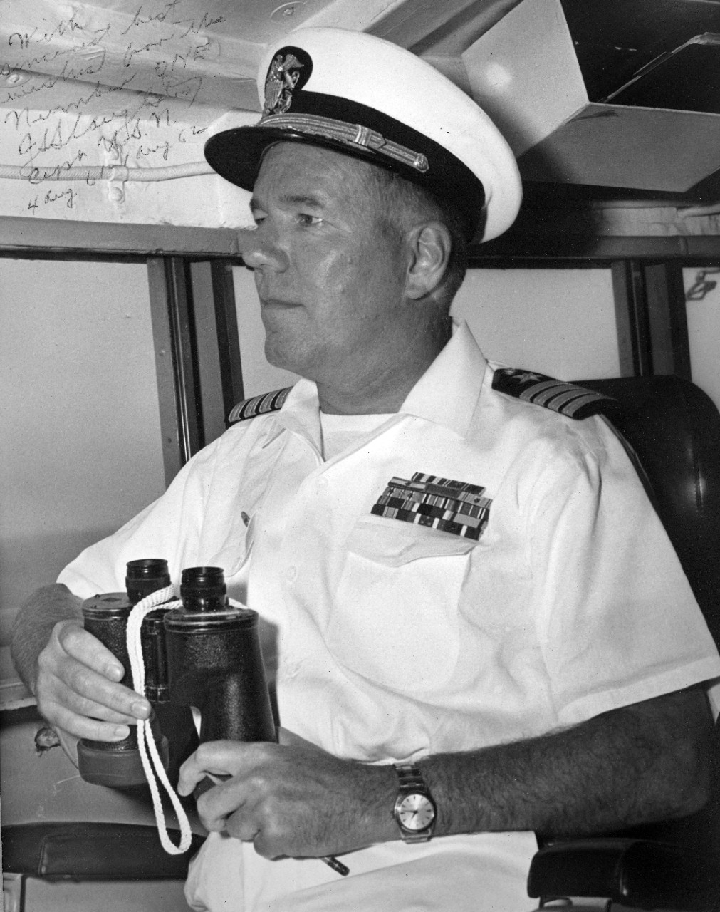 "Collection of 15 autographed portraits of commanding officers of USS Northampton (CLC-1), 1950s-1960s. Individuals include: Slade Cutter, Harold G. Bowen, Jr.,  Eugene Hemley, John S. ""Jack"" Slaughter, W.D. Irvin, W.E. Kuntz, E.H. Farrell, Donald T. Poe, J.W. Short, E.P. Homes, J.M. Lee, C.E. Weakley, Harry B. Hahn, and Edward E. Conrad."