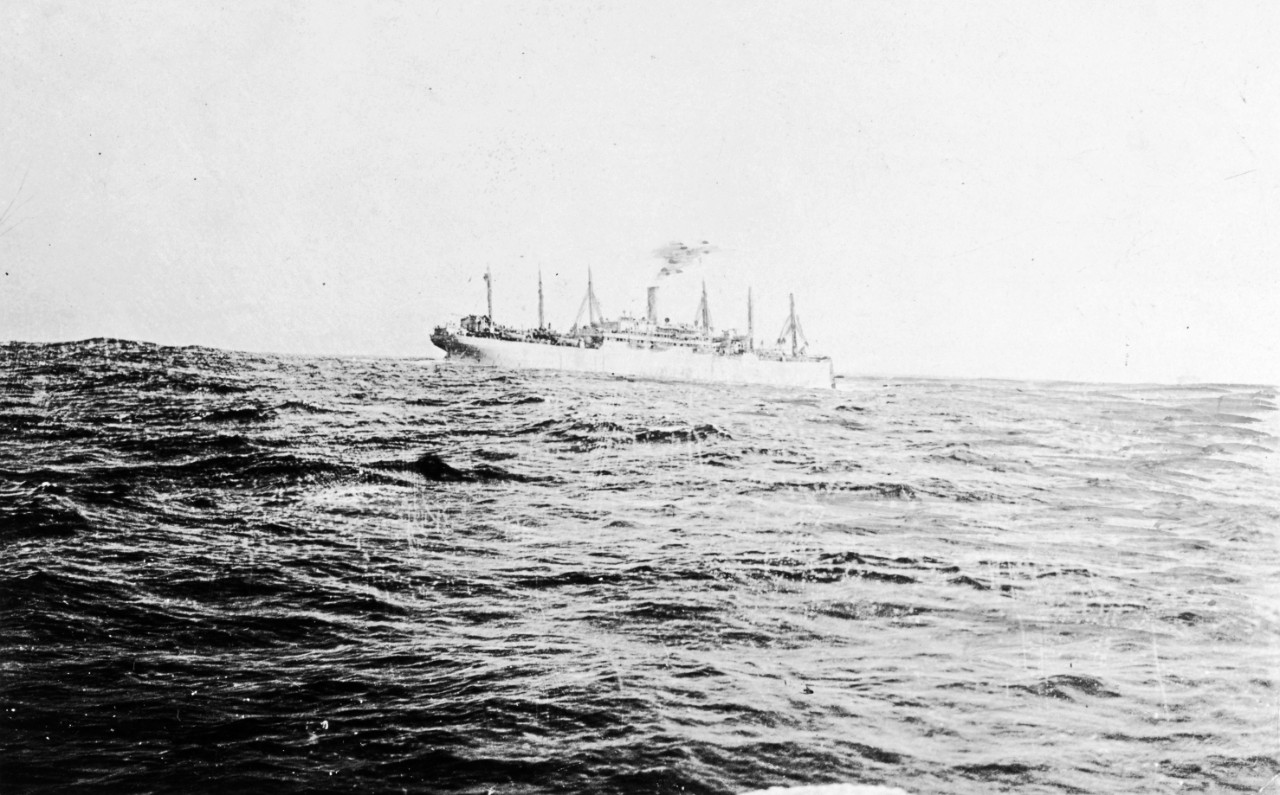 Approximately 50 photographs of the World War I transport USS President Lincoln, through her sinking on 31 May 1918. Many scenes on board the ship at sea. Other ships seen include USS Leviathan (SP-1326), and USS Warrington (DD-30) in drydock in 1911. One page removed from a USS President Lincoln reunion program. The entire collection was removed and/or assigned to the NH collection.