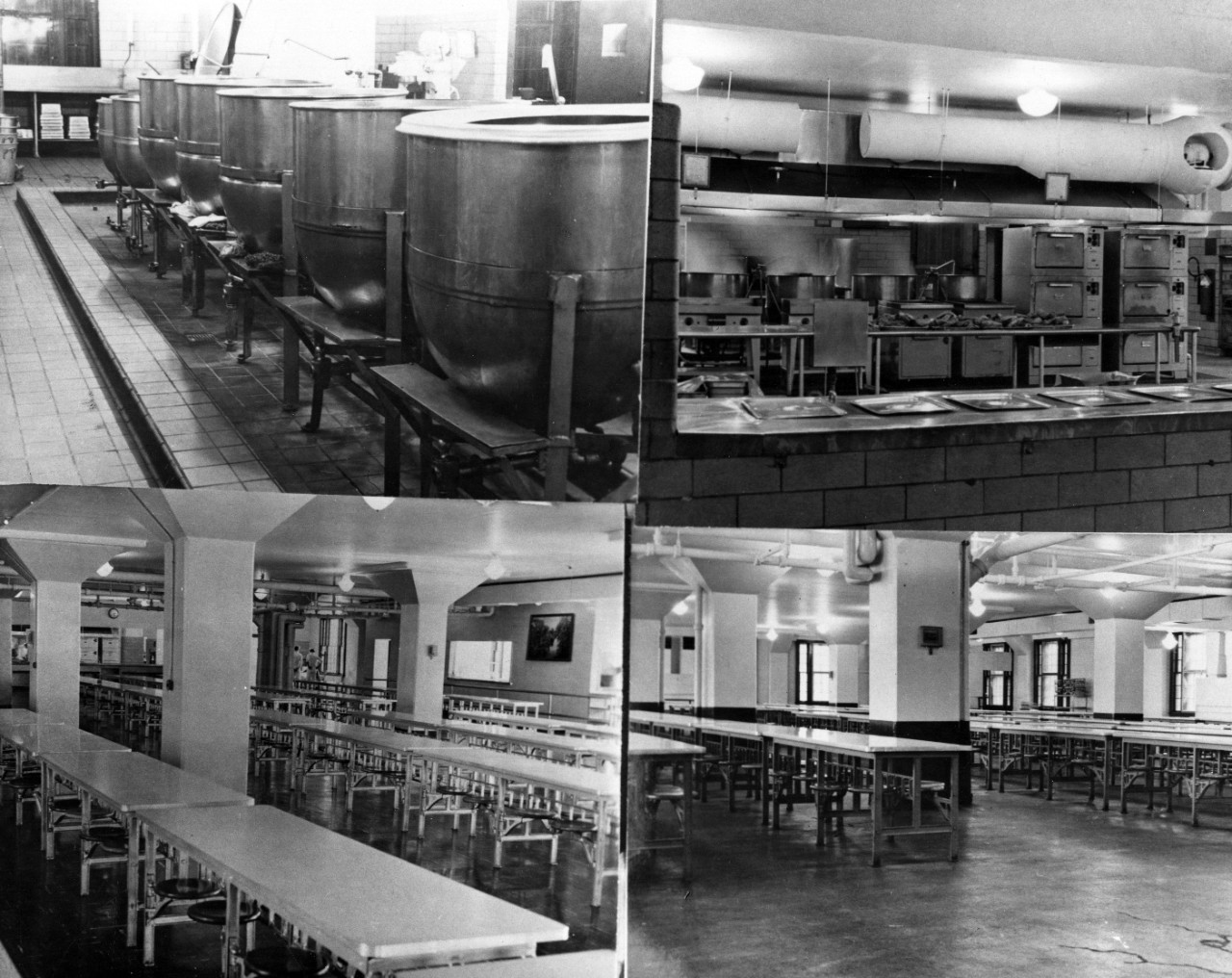 Mess Hall, Cooking Pots, Steam Line