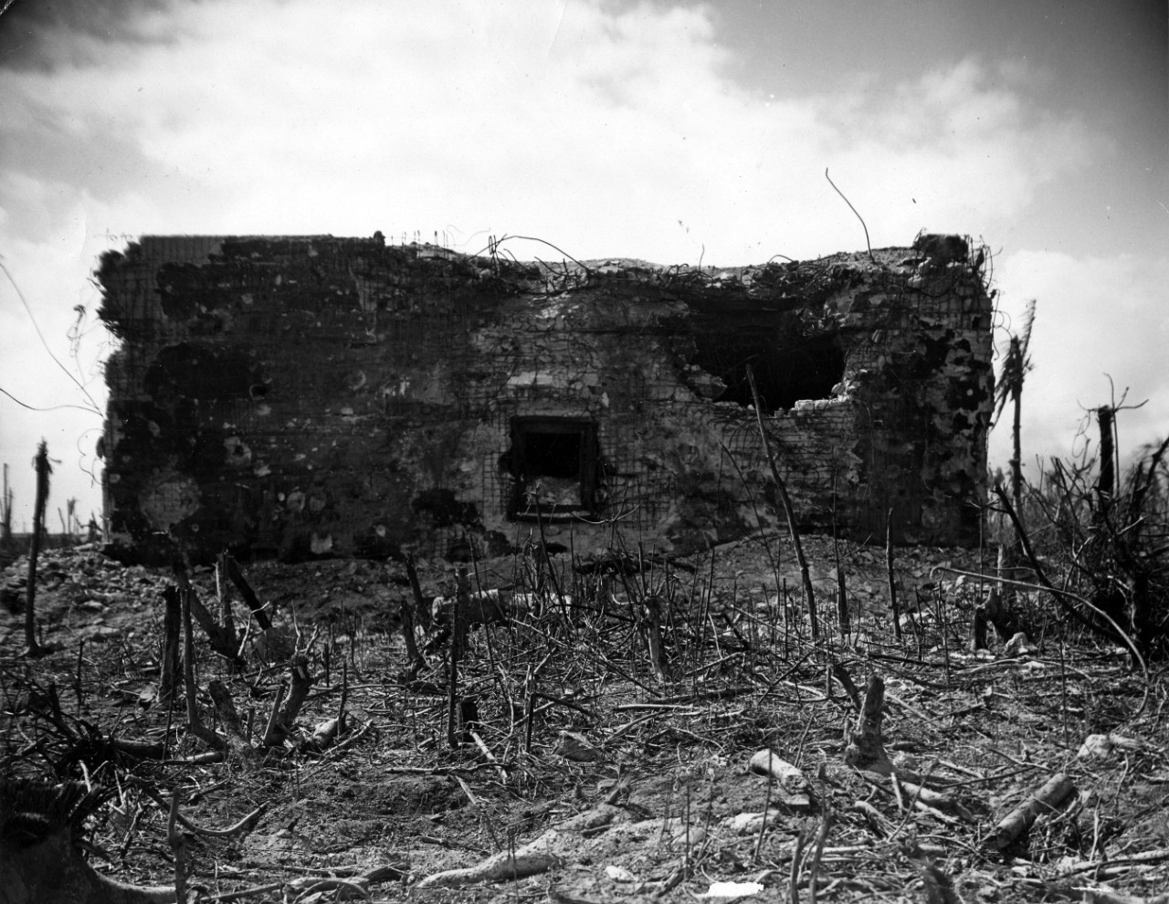 S-065 Roi-Namur Damage Photos Collection 63 images of naval bombardment damage photos on Roi-Namur Island, Kwajalein Atoll, Marshall Islands, 29 January 1944 – 2 February 1944, following Allied invasion. Photos were transferred from Operational Archives, with no indication as to their original source.